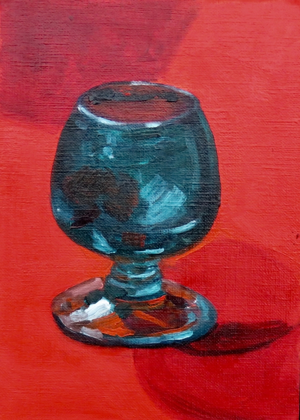 GLASS ON RED - STUDY
